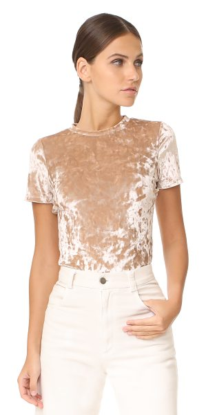 ALICE + OLIVIA jazmine tee - Crushed velour adds a shimmery sheen to this...