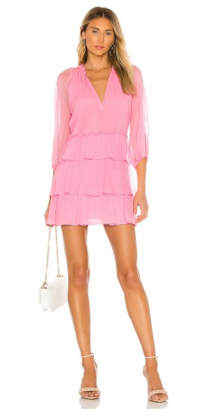 Alice + Olivia layla three tier ruffle dress in electric pink