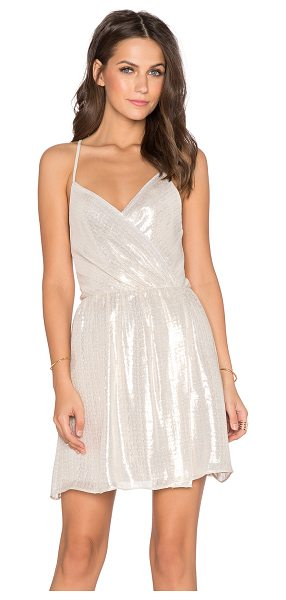 Alice + Olivia Livy draped slit dress in metallic silver - Self: 67% silk 33% polyLining: 97% poly 3% elastane. Dry...
