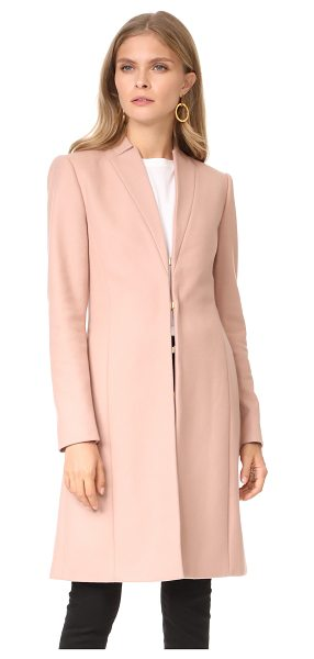 Alice + Olivia logan high neck coat in rose tan - A polished alice + olivia overcoat with peaked lapels....