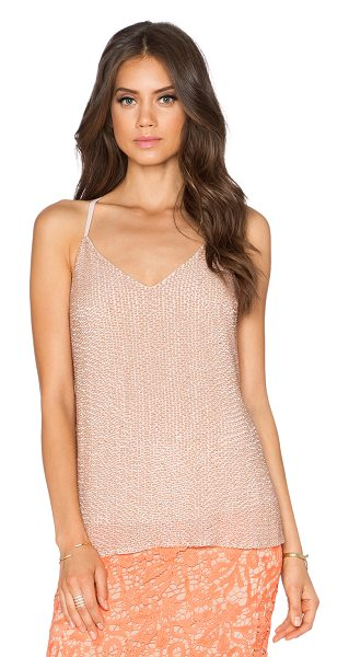 Alice + Olivia Lola sequined racerback tank in beige - Shell & Combo: 100% silkLining: 97% poly 3% spandex. Dry...