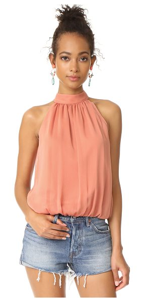 Alice + Olivia maris gathered halter top in salmon - Exclusive to Shopbop. This cropped alice + olivia top is...