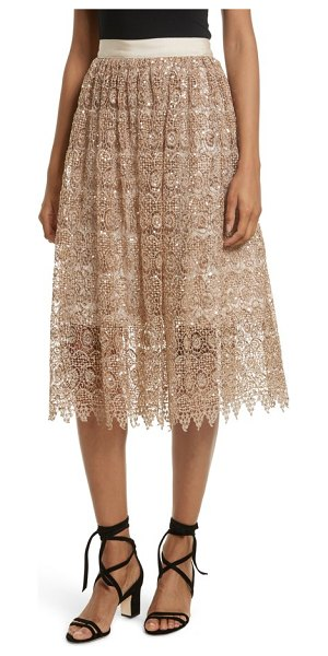 Alice + Olivia metallic lace skirt in gold - Perfect for party season, or just for adding a bit of...