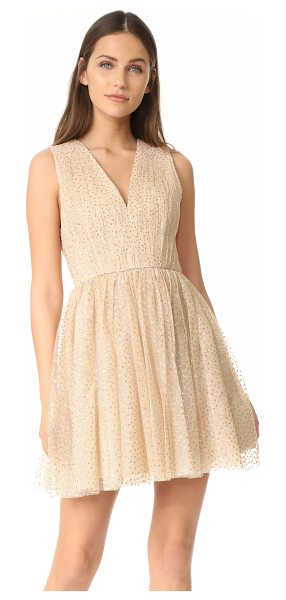 Alice + Olivia monica gathered party dress in natural/gold - NOTE: Runs true to size. Please see Size & Fit tab....