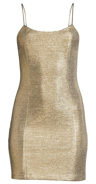 Alice + Olivia nelle sleeveless bodycon dress in champagne
