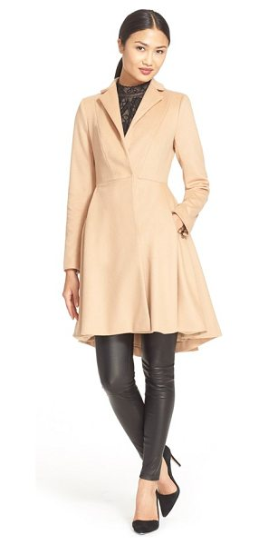 Alice + Olivia nikita fit & flare wool coat in light camel - Cover up without obscuring your curves in this...