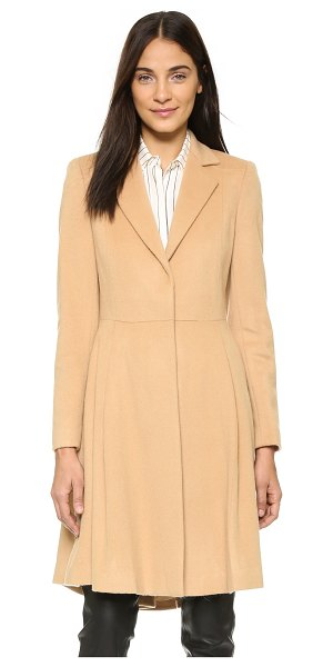 ALICE + OLIVIA Nikita flared coat - A flared silhouette and crisp pleats in front add a...