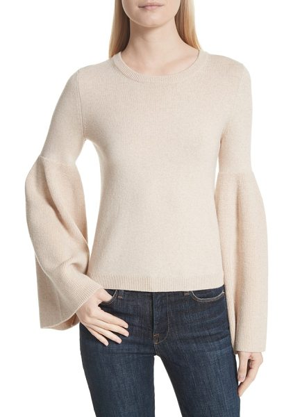 Alice + Olivia parson bell sleeve sweater in nude - A kiss of cashmere softens a luxe sweater fashioned with...