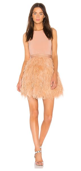 Alice + Olivia Philomena Dress in blush - Self: 100% dyed ostrich feathersCombo 1: 60% acetate 40%...
