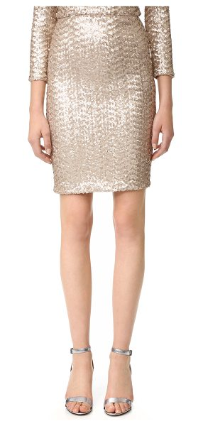 Alice + Olivia ramos sequin midi skirt in nude pink - A shimmering, sequined knit alice + olivia pencil skirt...