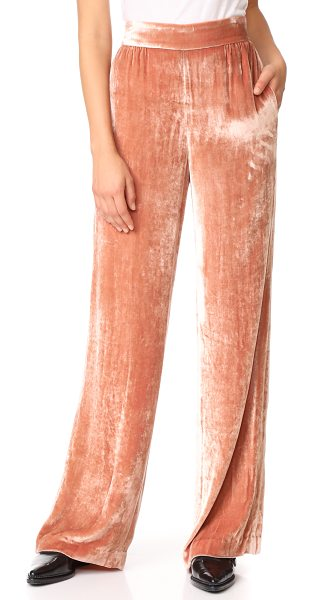 Alice + Olivia raquel wide leg pants in rose tan - Wide-leg alice + olivia pants with a flattering high...