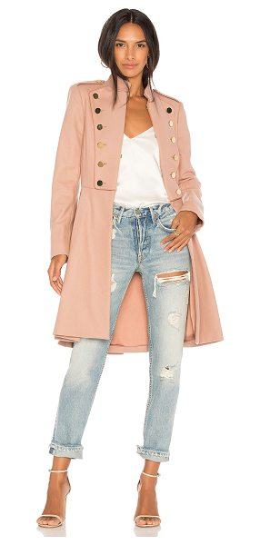 Alice + Olivia Rossi Military Coat in rose - Self: 80% virgin wool 20% nylonContrast: 96% poly 4%...