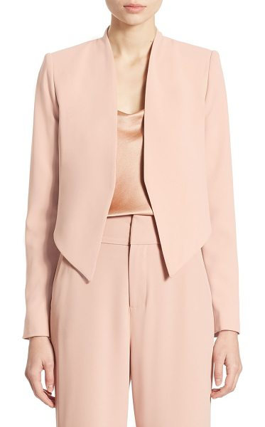 Alice + Olivia roxanne open-front blazer in rose tan