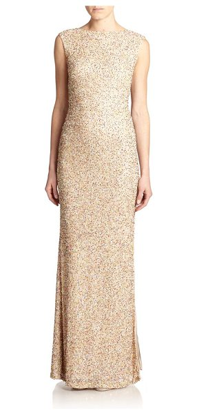 ALICE + OLIVIA Sachi beaded gown - Allover beading perfectly complements this contoured...