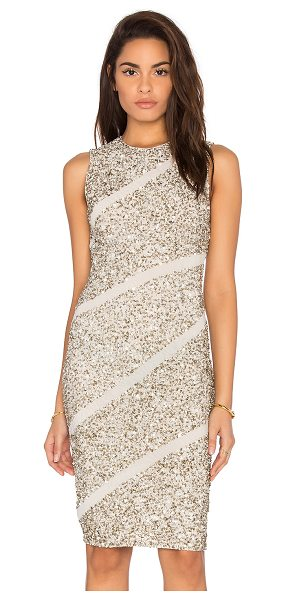 Alice + Olivia Sitara dress in beige - Self: 97% nylon 3% elastaneContrast: 100% polyLining:...