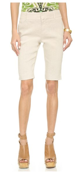 Alice + Olivia Slim fit bermuda shorts in natural