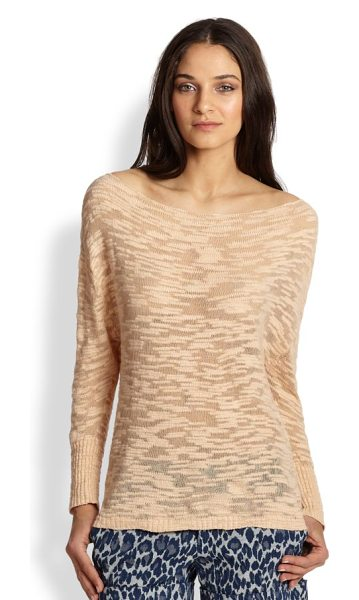 Alice + Olivia Slub slouchy pullover sweater in lightpink - The attention is in the details in this relaxed style...