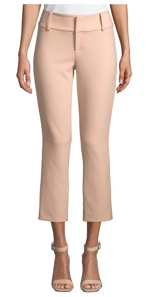 Alice + Olivia Stacey Slim Ankle Pants in blush