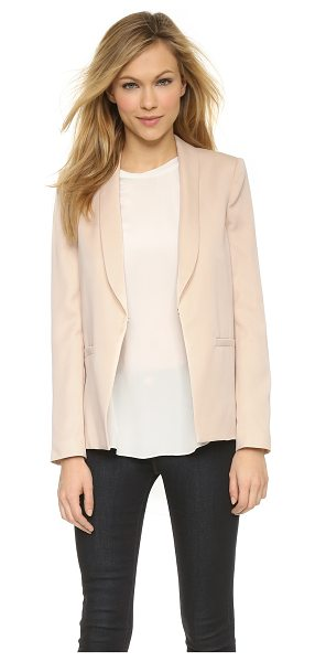 Alice + Olivia Tori slim collar loose jacket in pale blush - An alice + olivia jacket with a slouchy profile offers a...