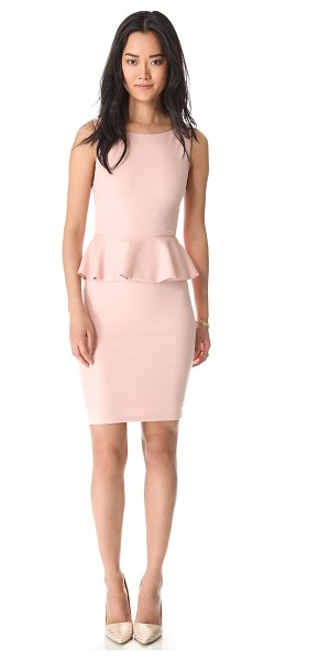 Alice + Olivia Tracey sleeveless peplum dress in pink - A glimmer of metallic thread adds glamour to a figure...