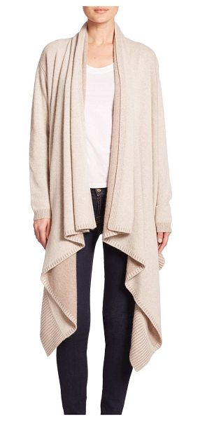 ALICE + OLIVIA Wool/cashmere waterfall cardigan - The flowing cascade hem of this luxurious open-front...