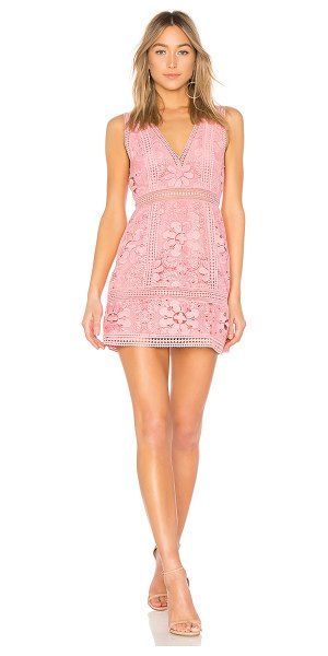 Alice + Olivia Zula Lace Dress in pink - Self: 100% polyLining: 94% poly 6% elastane. Dry clean...