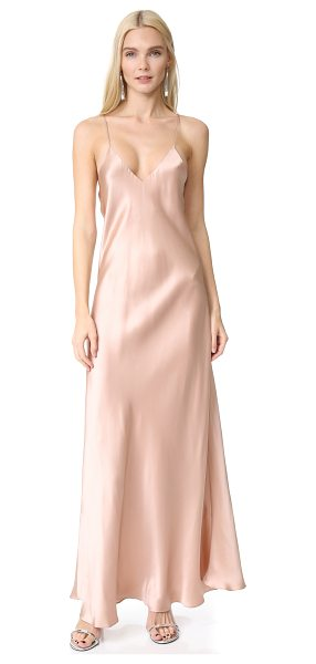 Alix allen slip dress in champagne - A lustrous, fluid Alix maxi dress in luxe silk...