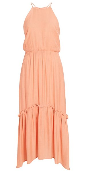 ALL IN FAVOR halter maxi dress in pink