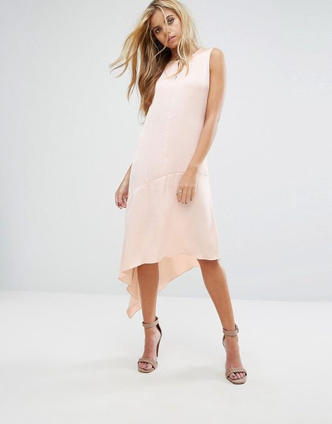 "Allsaints Elie Dress in eggshellpink - """"Dress by AllSaints, Lightweight woven fabric, Round..."