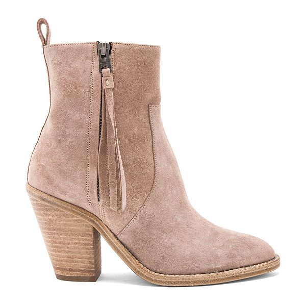 ALLSAINTS Lorna Bootie - Suede upper with leather sole. Side zip closure. Heel...