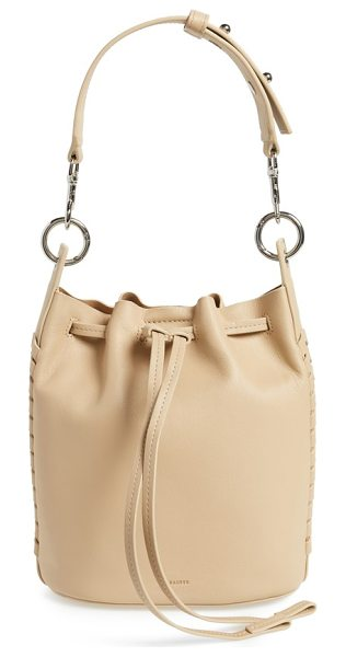ALLSAINTS small ray leather bucket bag - Whipstitched trim gracefully frames an elevated bucket...