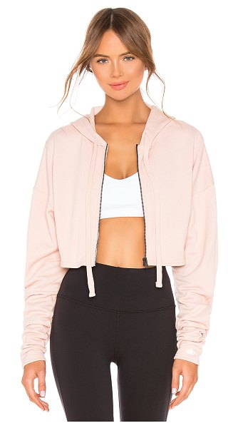 Alo Yoga Extreme Crop Jacket in pink