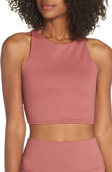 57200e926c Alo Yoga movement sports bra in rosewood - Soft fabric and a modern  silhouette with a