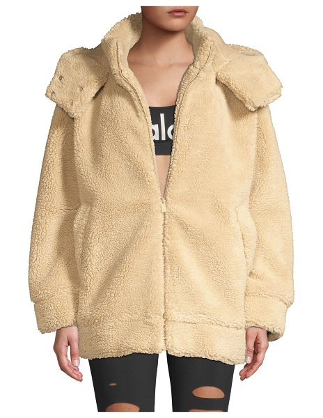 Alo Yoga norte teddy coat in camel
