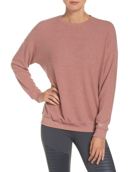 Alo Yoga soho pullover in rosewater heather - Get straight to relaxing as soon as the workout is over...