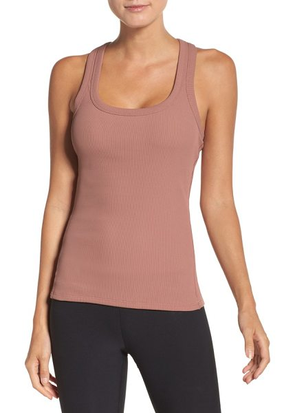 Alo Yoga support ribbed racerback tank in rosewater - A stretchy, figure-hugging tank is perfect for workouts...