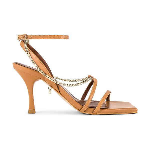 ALOHAS straps chain heel in camel