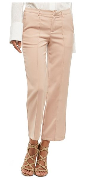 ALPHA AND OMEGA alpha & omega pintuck pants in salmon - Up your night-out game with these polished crops defined...