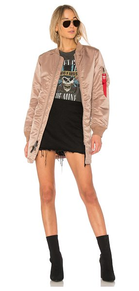 Alpha Industries MA-1 Long Jacket in pink
