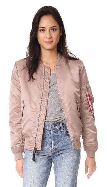 Alpha Industries ma-1 reversible bomber jacket in mauve - This reversible Alpha Industries bomber jacket has one...
