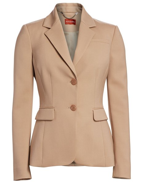 Altuzarra fenice stretch-virgin wool jacket in warm stone