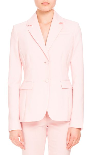 "Altuzarra Fenice Two-Button Blazer in shell pink - Altuzarra ""Fenice"" stretch-wool blazer. Notched collar;..."