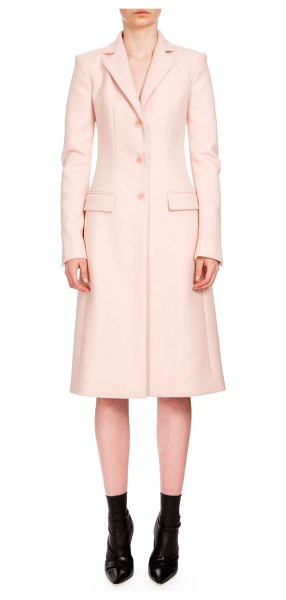 "Altuzarra Gardner Button-Front Long Coat in blush - Altuzarra ""Gardner"" wool-blend coat. Notched collar;..."