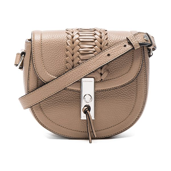 Altuzarra Ghianda Saddle Mini Embroidered in neutrals