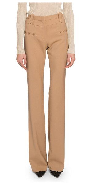 Altuzarra High-Rise Flare Leg Pants in beige