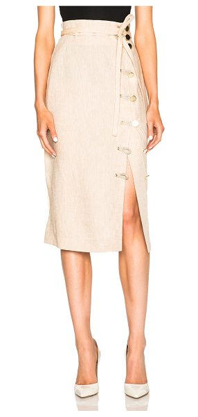 Altuzarra Hiroki lightweight linen skirt in neutrals - 100% linen.  Made in Italy.  Elastic belted waist. ...