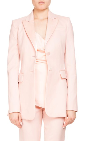 "ALTUZARRA West Two-Button Satin-Trim Wool Tux Blazer - Altuzarra ""West"" tuxedo-style blazer with satin trim...."