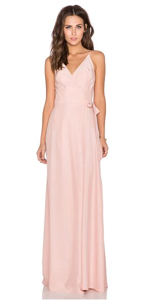 Amanda Uprichard Alexandria maxi dress in pink - Silk blend. Dry clean only. Partially lined. Wrap front...
