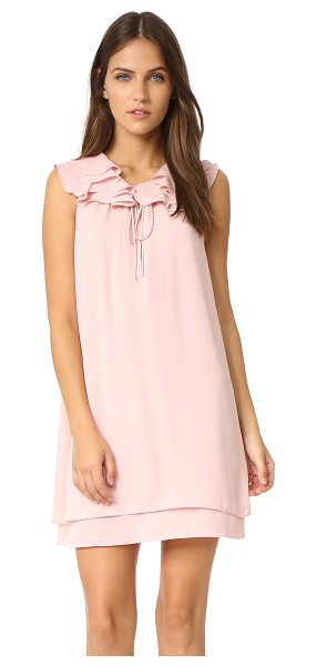 Amanda Uprichard belle dress in dusty rose - A slinky crepe Amanda Uprichard dress with a ruffle...
