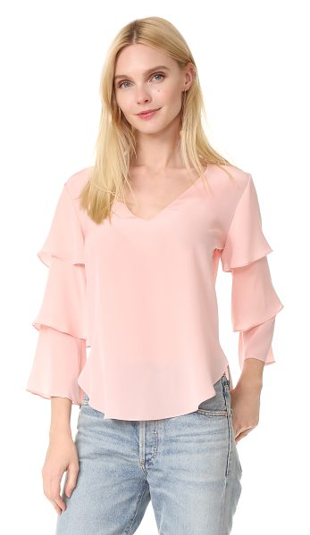 Amanda Uprichard budapest top in dusty rose - Exclusive to Shopbop. Tiered sleeves bring graceful...